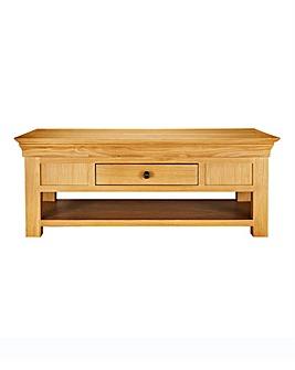 Malvern Oak and Oak Veneer Coffee Table