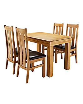 Malvern Oak Table and 4 Chester Chairs