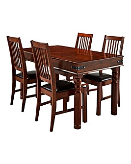 Maharani Dining Table and 4 Chairs