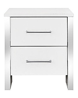 Mono 2 Drawer Bedside Table