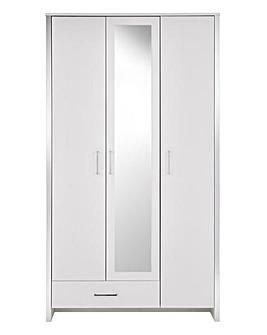 Mono 3 Door 1 Drawer Wardrobe