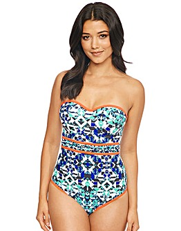 Mayan Underwired Bandeau Swimsuit