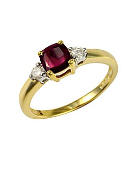 9ct Ruby & Dia Ring