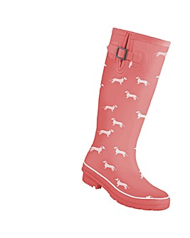 Brakeburn Coral Sausage Dog Welly