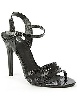 Daniel Minety Black Reptile Sandal
