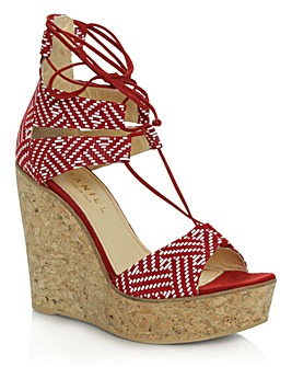 Daniel New England Red Leather Wedge