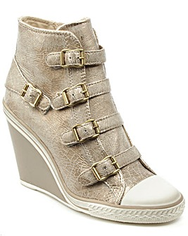 Ash Thelma Gold Leather Hi-Top Trainer