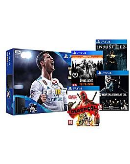PS4 Slim 500gb 5 game Action Bundle