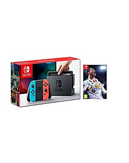 Nintendo Switch Neon and FIFA 18