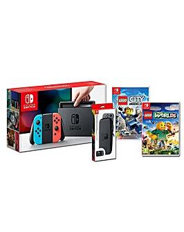 Nintendo Switch Neon Family Bundle