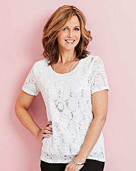 Sequin Lace T-Shirt