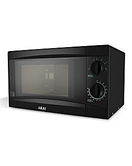 AKAI 800W 20Litre Manual Black Microwave