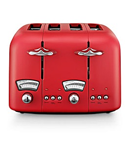 Delonghi Argento Breakfast Red Toaster