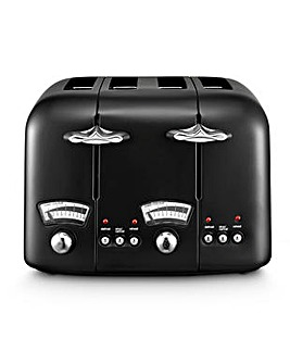 Delonghi Argento Breakfast Black Toaster