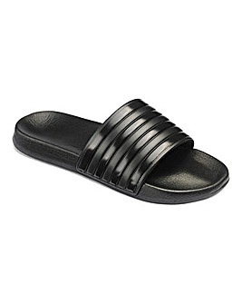 Black Stripe Pool Slide Wide Fit