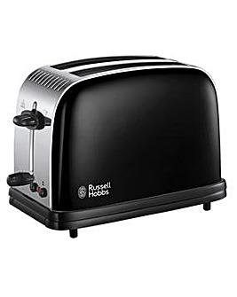 Russell Hobbs Colours+ Black Toaster