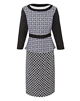 Ava By Mark Heyes Geometric Print Dress
