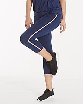 Performance Capri Legging With Piping