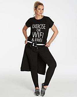Jersey Slogan Tshirt