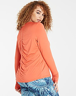 Rouched Back Performance Top