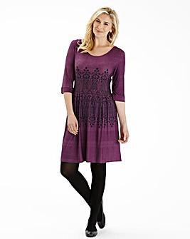 Pamplemousse Jersey Print Dress