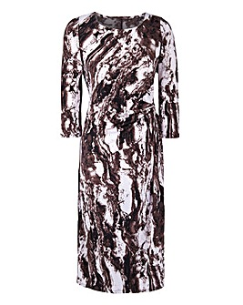 Ava By Mark Heyes Marble Print Dress