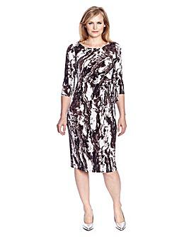 Ava By Mark Heyes Marble Print Dress