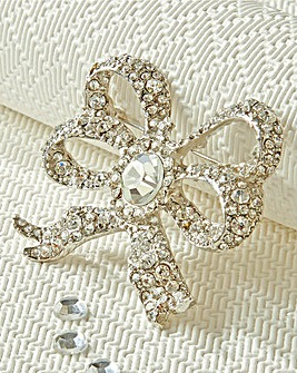 Royal Inspired Bow Brooch
