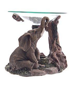Realistic Elephant Scene Oil Burner