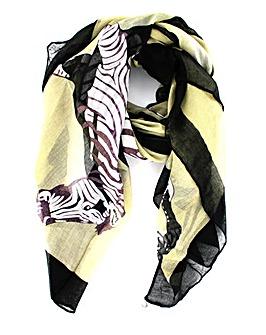 Zebra Print Effect Scarf