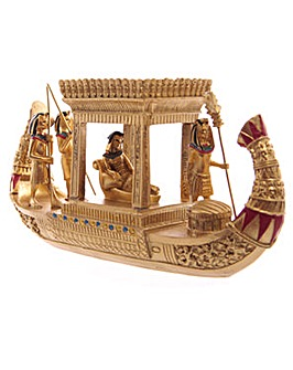 Golden Egyptian Canopy Boat