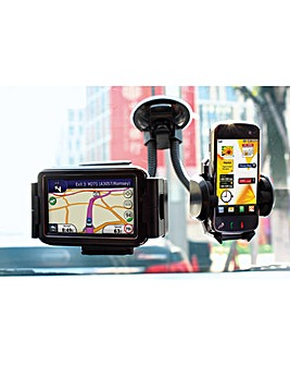 Streetwize Twin Mobile & Sat Nav Holder