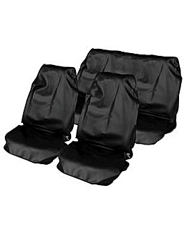 Black HD Waterproof  Seat Protectors
