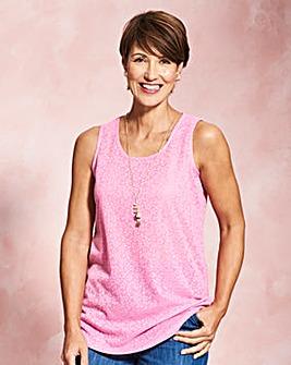 Sugar Pink Floral Jacquard Vest