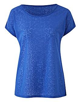 Cobalt Floral Jacquard TShirt