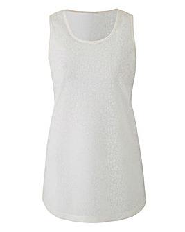 White Floral Jacquard Vest
