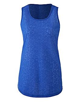 Cobalt Floral Jacquard Vest