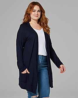 Navy Boyfriend Long Sleeve Cardigan