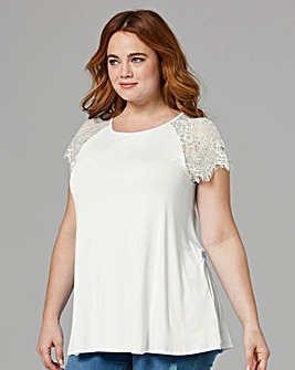 Ivory Lace Sleeve Swing Top