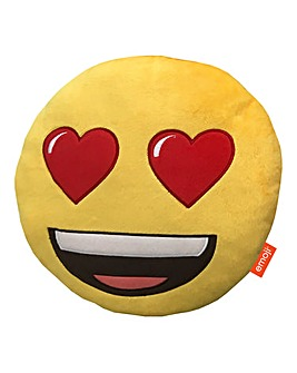 Emoji Shaped Cushion - Love Hearts