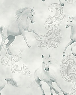 Unicorn Wallpaper - Camarillo Grey