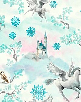 Unicorn Wallpaper - Fairytale Ice Blue