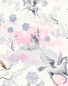 Unicorn Wallpaper - Fairytale Lilac