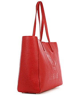 Versus Versace Red Leather Shopper Bag