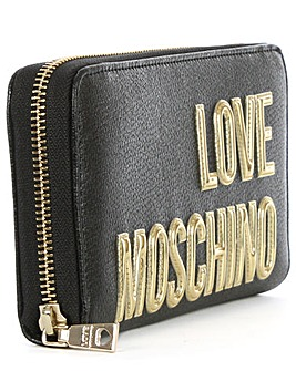 Love Moschino Zip Around Logo Wallet