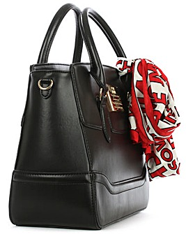 Love Moschino Top Zip Scarf Work Bag