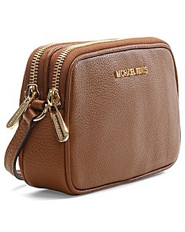 Michael Kors Tan Zip Cross-Body Bag