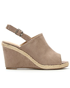 Daniel Stonebow Sling Back Wedge Sandal