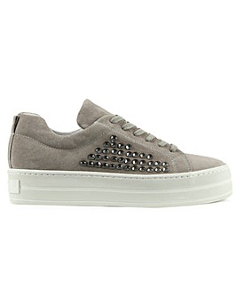Daniel Succory Jewelled Flatform Trainer