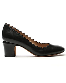 Daniel Scalloping Leather Court Shoe
